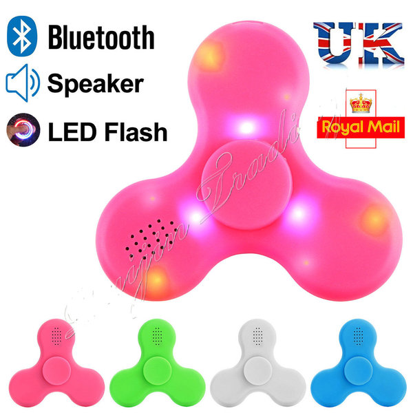 BLUETOOTH FIDGET FINGER SPINNER HAND FOCUS ULTIMATE SPIN EDC NEW