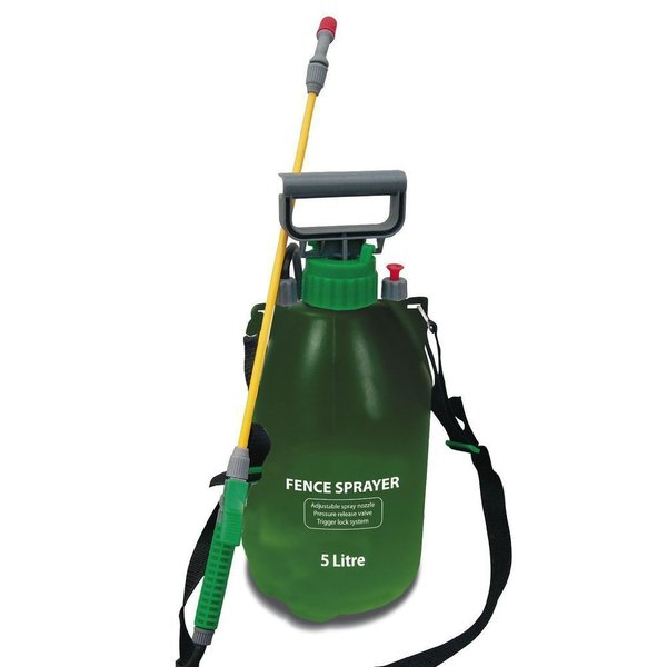 5L GARDEN PRESSURE SPRAYER KNAPSACK WEED KILLER CHEMICAL FENCE WATER SPRAY BOTTLE