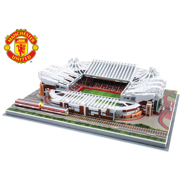 3D MANCHESTER UNITED OLD TRAFFORD REPLICA FOOTBALL STADIUM 186PC PUZZLE GIFT NEW
