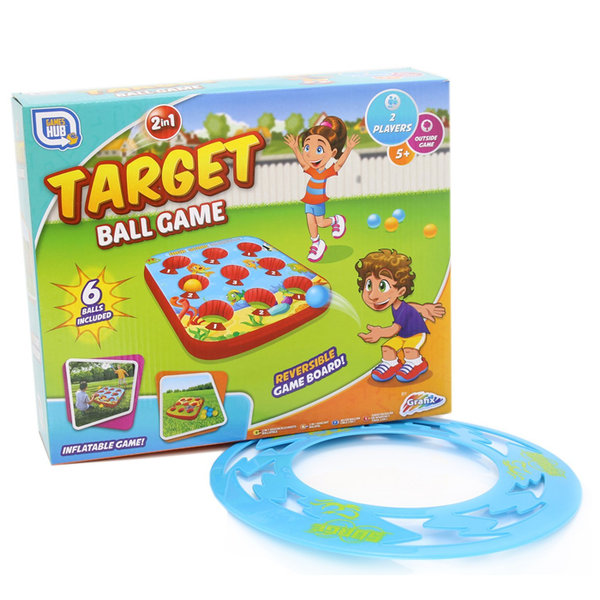 2 in 1 Target Ball Game - Double Sided Inflatable Outdoor Garden