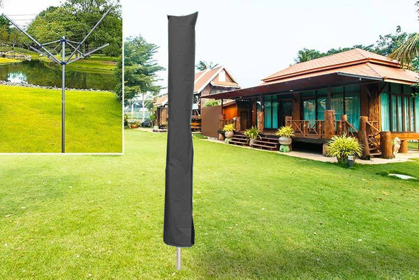 ROTARY WASHING LINE COVER HEAVY DUTY PROTECTOR WATERPROOF CLOTHES GARDEN PARASOL