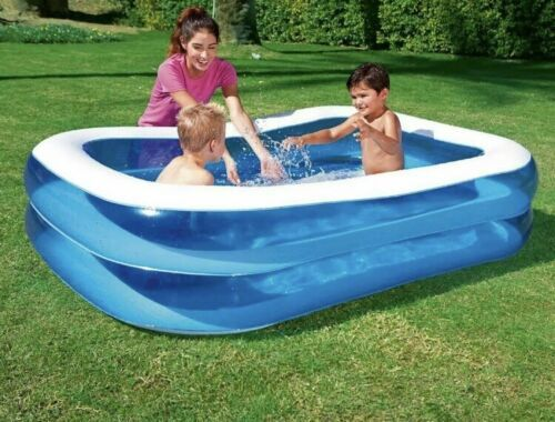 NEW BESTWAY RECTANGULAR FAMILY SWIMMING PADDLING POOL OUTSIDE WATER FAMILY 2.01M