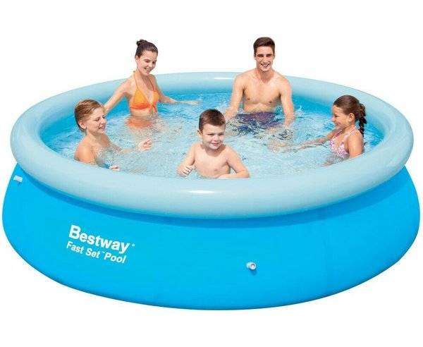 BESTWAY LARGE ROUND FAMILY SWIMMING PADDLING POOL OUTSIDE WATER KIDS 10FT