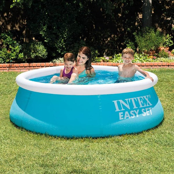 INTEX SWIMMING POOL FAMILY FUN GARDEN SUMMER KIDS WATER PADDLING 6FT