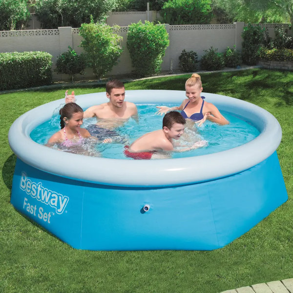 8FT BESTWAY ROUND PADDLING GARDEN POOL FUN FAMILY SWIMMING OUTDOOR INFLATABLE