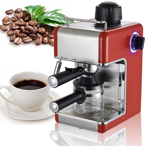 ESPRESSO COFFEE MACHINE MAKER MILK FROTHER LATTE CAPPUCCINO 3.4 BAR 4 CUP HOME