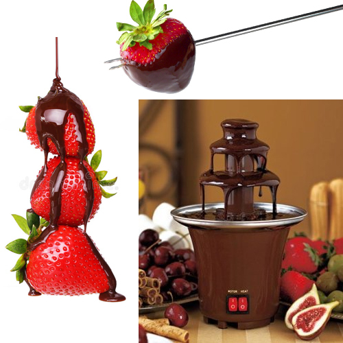 CHOCOLATE FOUNTAIN FONDUE 3 TIER PARTIES STAINLESS STEEL DIPPING ELECTRIC NEW