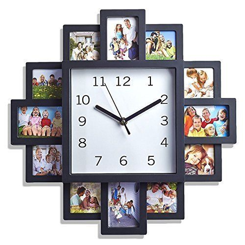 12 MULTI APERTURE MODERN COLLAGE PHOTO FAMILY PICTURE FRAME & TIME ...