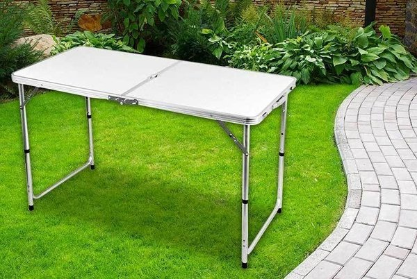 4FT HEAVY DUTY FOLDING TABLE PORTABLE PLASTIC CAMPING GARDEN PARTY CATERING FEET